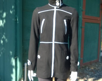 Vintage Dashing Black & White Coat