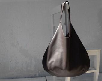 Leather Brown Hobo Bag/Large Hobo Bag Brown/Big Hobo Bag/Ready to ship