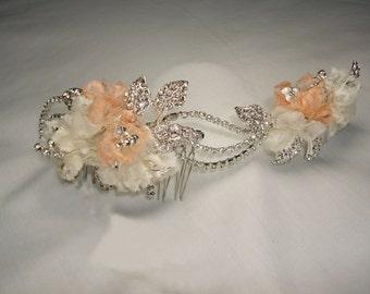 Silver hair comb, Bridal headpiece, bridal hair comb, bridal accessories, bridal headpieces, accessories