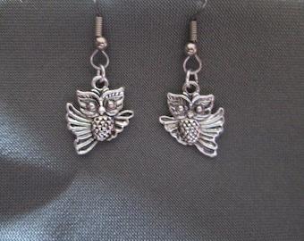 Surgical Steel Owl Earrings