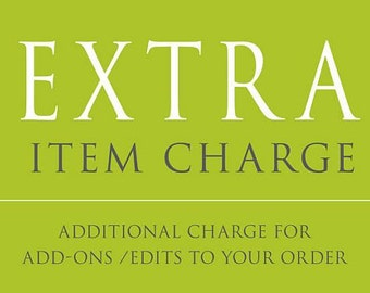 additional item charge