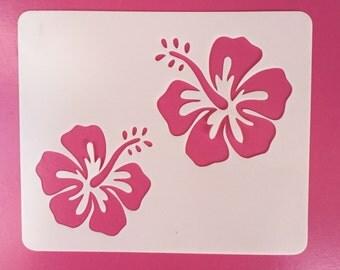 Hibiscus Stencil, Mylar, Reusable, Hibiscus, Craft Stencil, Painting Stencil, Stenciling, Template, Stencil, Flower