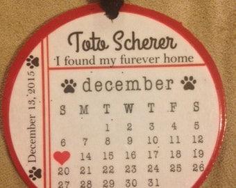 New Dog Pet Adoption Ornament Furever Home Ornament Christmas Ornament