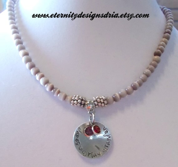 personalized beaded name necklace child by eternitydesignsdria