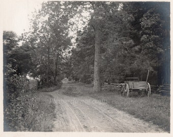 Antique Photo ~ the country road