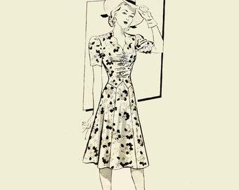 1940s Dress Sewing Patterns ANNE ADAMS 4699 Bust 36 Womens Sewing Pattern 40s Patterns Vintage Sewing Patterns for Women Anne Adams Pattern