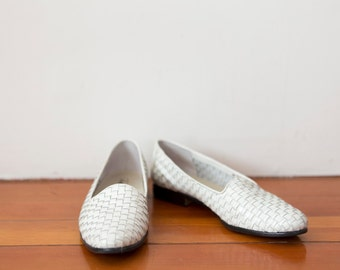 White Woven About-Town Loafers