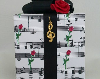 Phantom of the Opera Music box wrapped as a gift