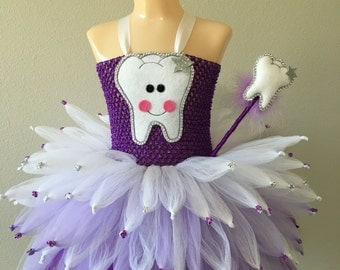 tooth fairy tutu/ tooth fairy costume/ tooth fairy tutu dress/ fairy costume/ fairy tutu