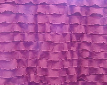 """Deep Pink Ruffle Fabric (remnant 21"""")"""