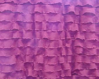 Deep Pink Ruffle Fabric