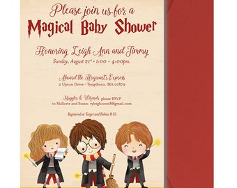 harry potter baby shower invitation harry potter baby shower invite