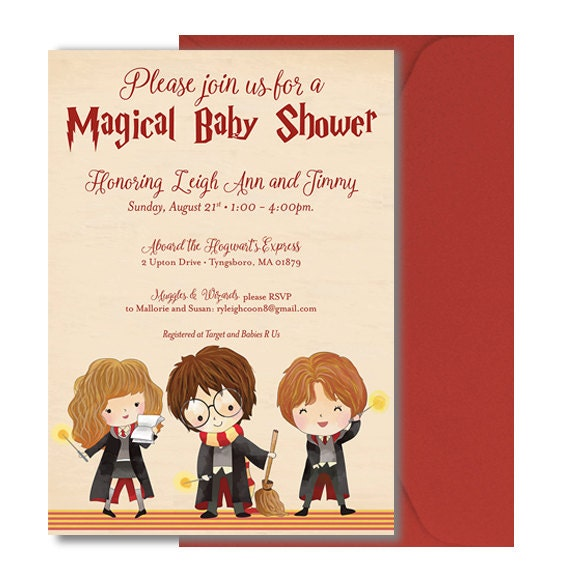 Harry Potter Baby Shower Invitation Harry by DOODLEBOXdesigns