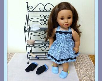 kitchen set 18 inch doll etsy. Black Bedroom Furniture Sets. Home Design Ideas