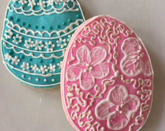Gluten Free Decorated Easter Sugar Cookie