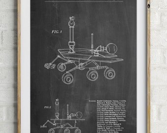 Mars Rover Patent Poster, NASA, Outer Space, Space Art, Technology Art, Geek Gift, PP0227