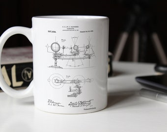 Planetarium 1909 Patent Mug, Scientist, Astronomy Mug, Space Nursery, Outer Space, PP0988