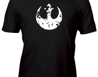 Limited Edition Weathered White Vintage Rebel Alliance Custom Shirt All sizes up to Plus 5x