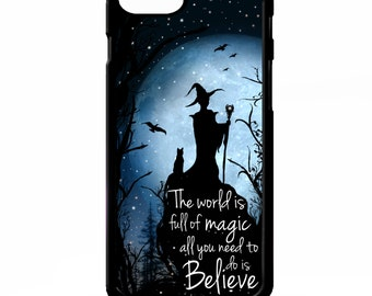 Witch sorceress believe in magic stars supernatural quote phrase rubber gel silicone phone case cover for iphone 5 5s SE 5C 6 6s 7 plus