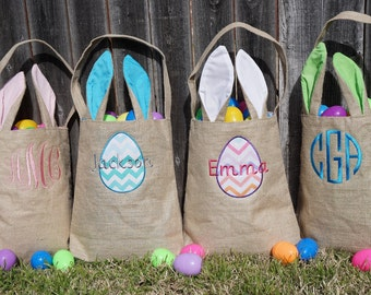 Easter basket, Personalized Easter Basket, monogram easter basket, girls basket, boys basket, girls easter basket, monogram, burlap, bunny