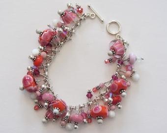 Artisan Lampwork Charm Bracelet