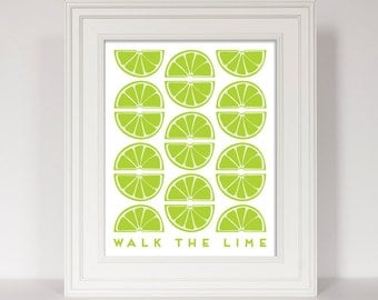 Lime Green Kitchen Art Lime Quote Kitchen Quote Citrus Print Lime Art
