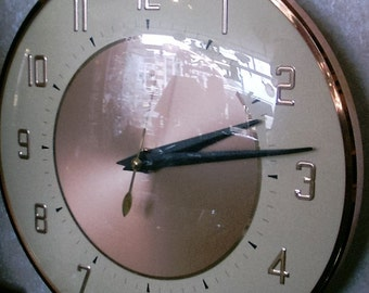Metamec Copper Electric Wall clock - English Made