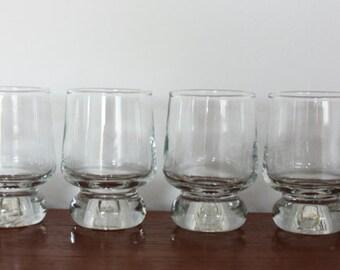 6 x 1970s Ravenhead Apollo Schnapps/Port/Sherry/Shot Glasses by Annette Meech