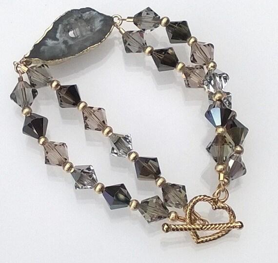Smokies Swarovski Crystal Bracelet, Swarovski Crystal Bracelet, Crystal Bracelet, Beaded Bracelet