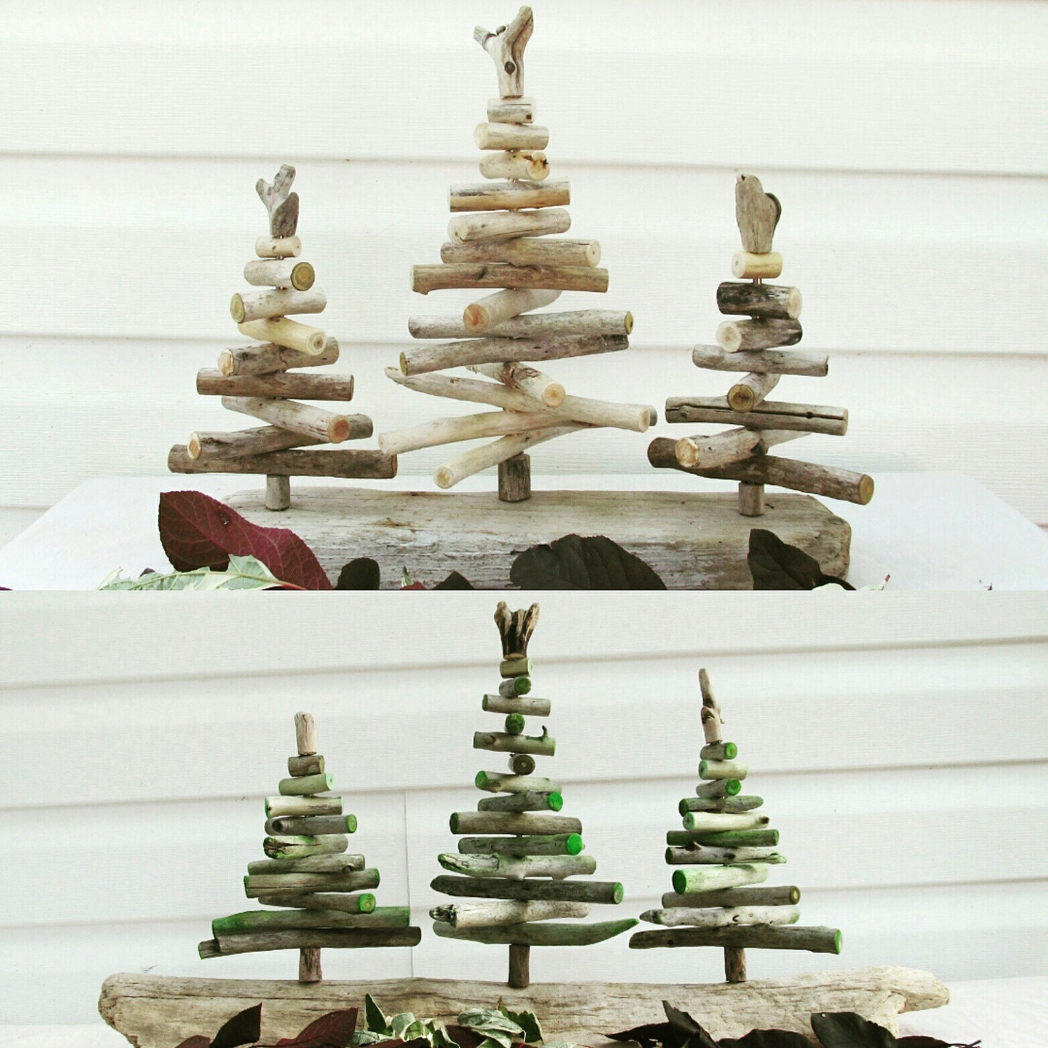 Driftwood christmas tree forest driftwood holiday decor for How to make a hanging driftwood christmas tree