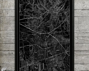 Map of SMITHTOWN NY Print, Wall Decor for your Home or Office