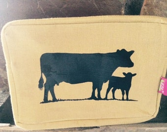 Cow/Calf Cattle Angus Makeup Bag