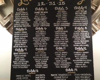 Wedding Seating Chart Chalkboard