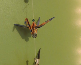 SALE! Origami Crane Mobile/Fan charm