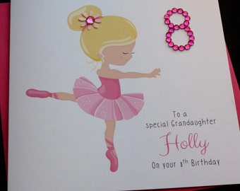 Pretty Pink Ballerina Birthday Card