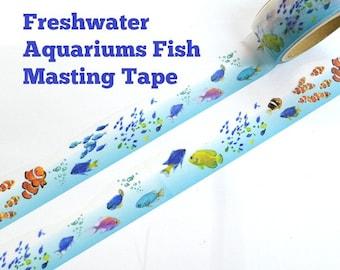 Washi Tape - Freshwater Aquariums Tropical Fish Paper Masking Tape 20mm × 5m