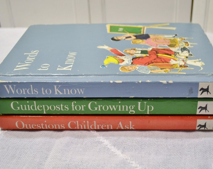 Vintage Child  Book Set of 3 Words to Know Questions Children Ask Guideposts Harry Bricker Educational Corp PanchosPorch
