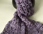 Dazzle Metallic Scarf, hand crocheted scarf, winter scarf