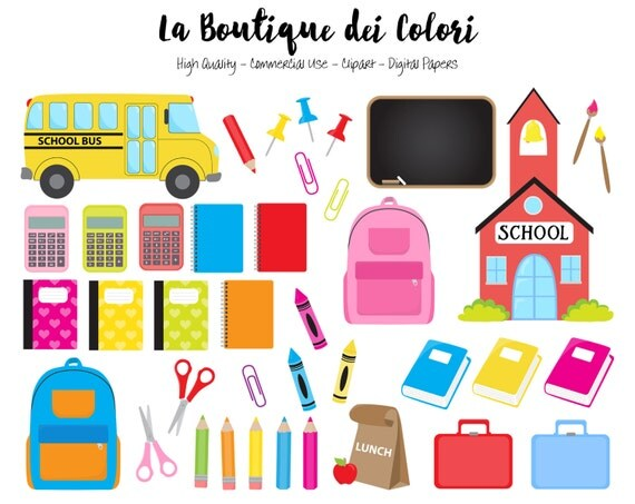 kids back to school clipart digital illustrations png study rh catchmyparty com Owl Teacher Clip Art Elementary Teacher Clip Art