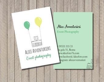 Photography busines card, Premade logo,modern cute business card, business card design