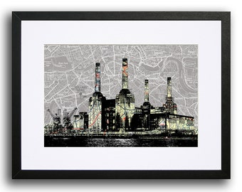Battersea Power Station Print - map