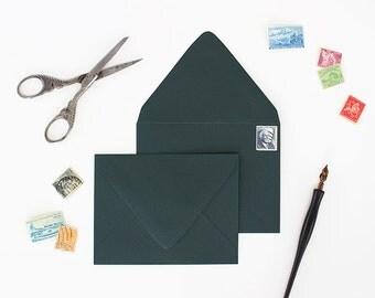 Envelopes - A2 Size - Set of 25 - Rainforest Color - Deep V Euro Flap