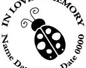 In Loving Memory Round Cute Ladybug Lady Bug Decal Sticker