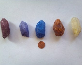 Dyed Colored Quartz Crystal Points