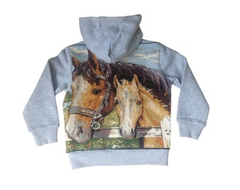 Horses 4/5 years - Collection canvas kids Sweatshirt