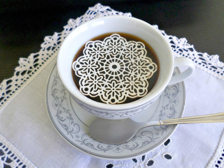 12 Sugar Doilies Edible Lace Cake Wedding Topper Decor Tea