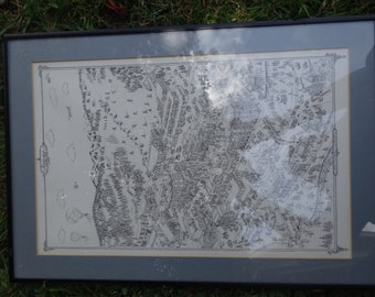 """Rare signed engraved print of Aspen, overall 20"""" x 14"""""""