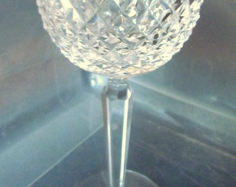 "Waterford Crystal Alana Pattern 7 3/8"" Hock Wine"
