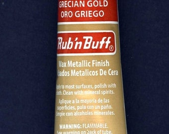 Grecian Gold 76301E ~ Amaco Rub 'N Buff Uncarded Wax Metallic Finish Crafts
