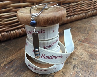 Handmade Silver & Pearl Kilt Pin